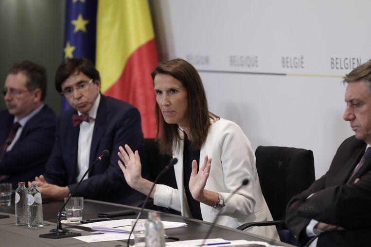 Premier Sophie Wilmès eerder deze maand.