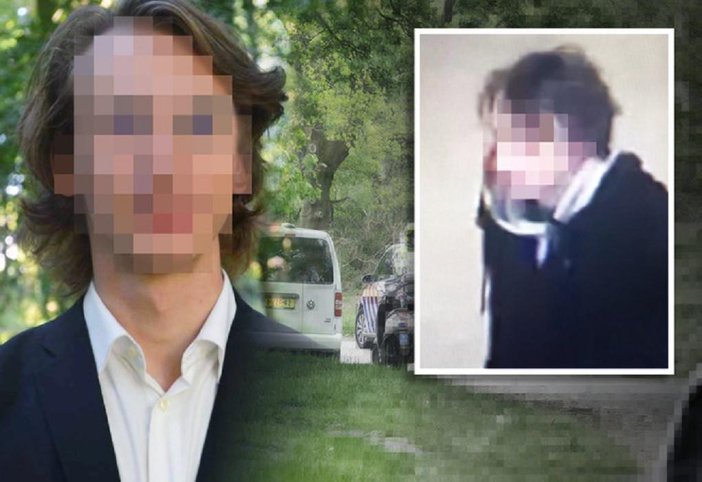 Links: Thijs H. tijdens zijn periode bij een Leidse studievereniging. Inzet: de opsporingsfoto die 8 mei door de politie verspreid werd.
