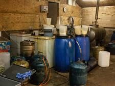 Drugslab opgerold in boerenschuur Voorst