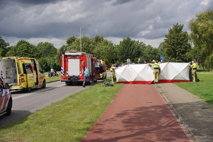 Het ongeluk gebeurde aan de Zuiderdreef in Wijchen.