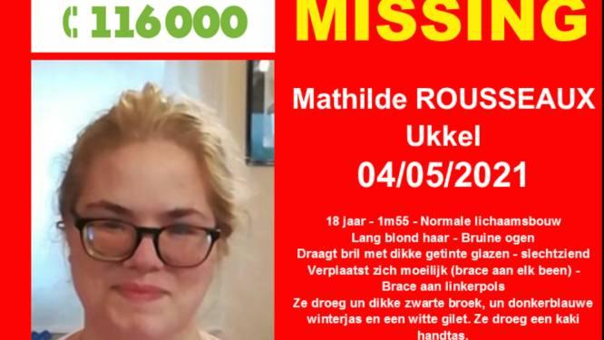 Ongerustheid over verdwijning slechtziende Mathilde (18)