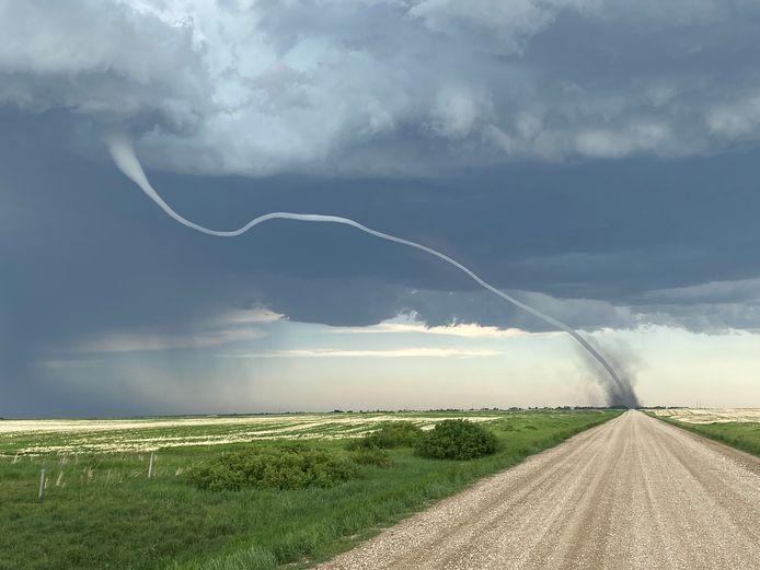 Vorige week was er ook al een tornado in D'arcy in het Canadese Saskatchewan.
