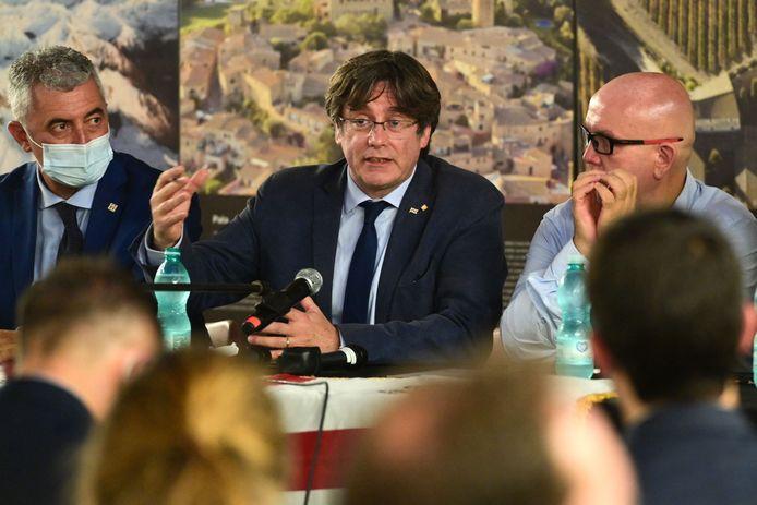 Carles Puigdemont tijdens zijn verblijf in Alghero, een stad op het Italiaanse eiland Sardinië.