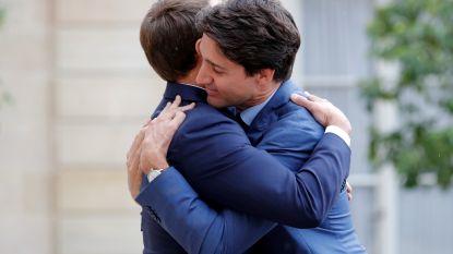 Macron en Trudeau: de bromance bloeit