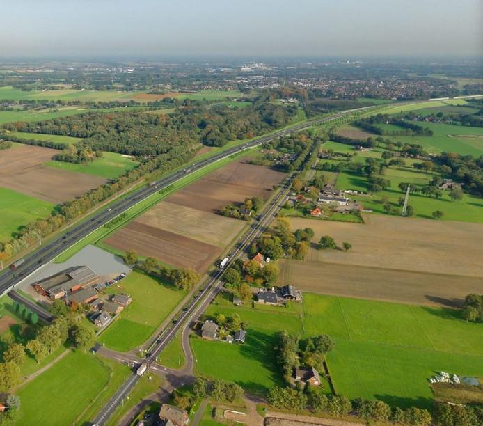 De N35 tussen Wierden en Nijverdal.