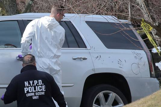 De SUV van het slachtoffer.