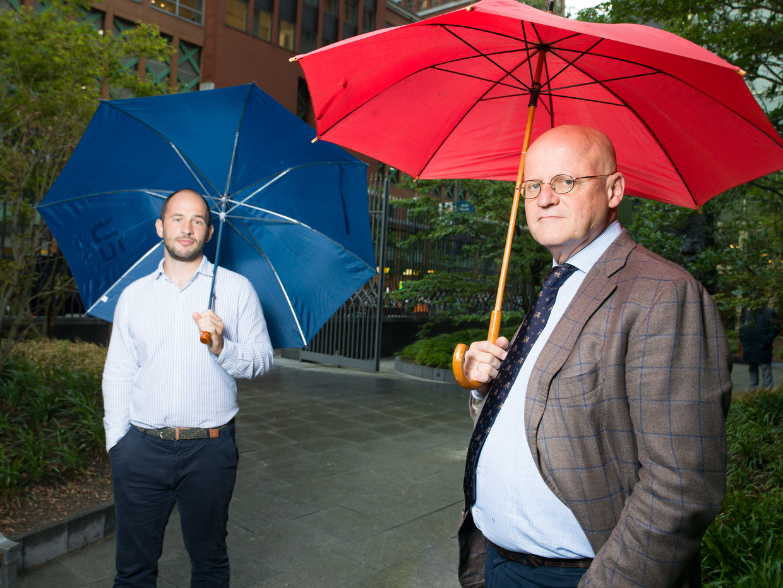Ferdinand Grapperhaus jr. en sr. Beeld Ivo van der Bent
