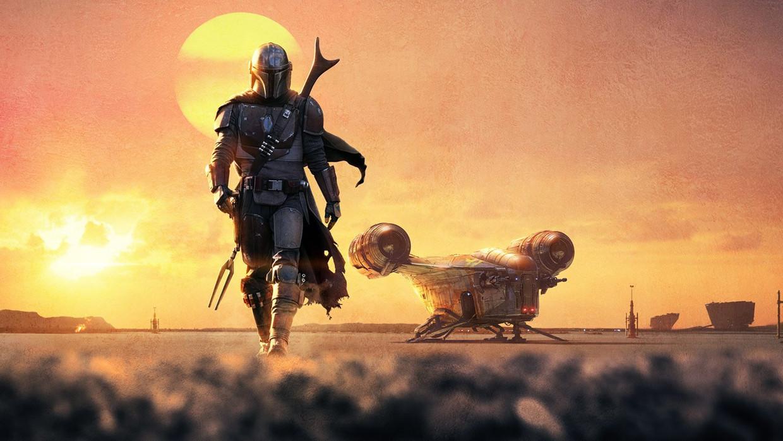 De Mandalorian: de premiejager Din Djarin, gespeeld door Pedro Pascal.