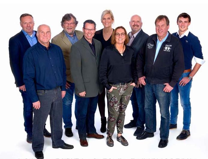 De kandidaten van Breda '97 voor de gemeenteraadsverkiezingen, met vierde van links lijsttrekker Peter Vissers.