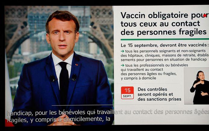 Emmanuel Macron s'est exprimé ce lundi soir à la télévision française.