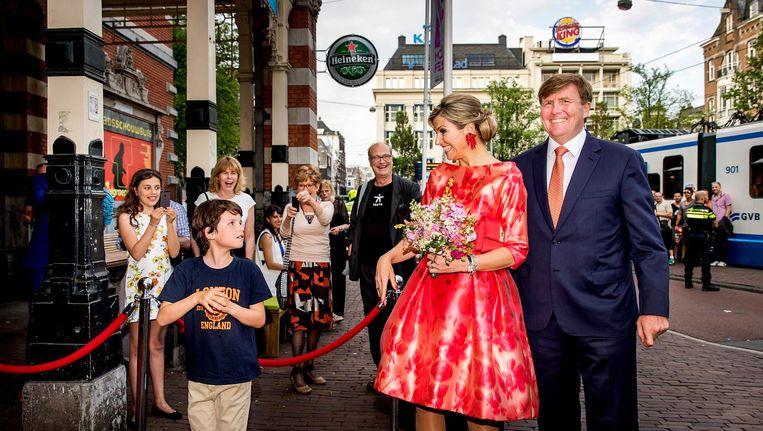 'Van enige vijandigheid tussen Willem-Alexander en de hoofdstad is tegenwoordig al helemaal geen sprake' Beeld anp