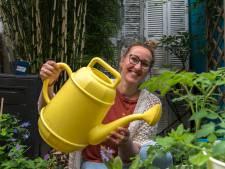 Kim (44) oogst groenten en fruit in haar achtertuin, mídden in de stad: 'Aubergine telen is lastig'