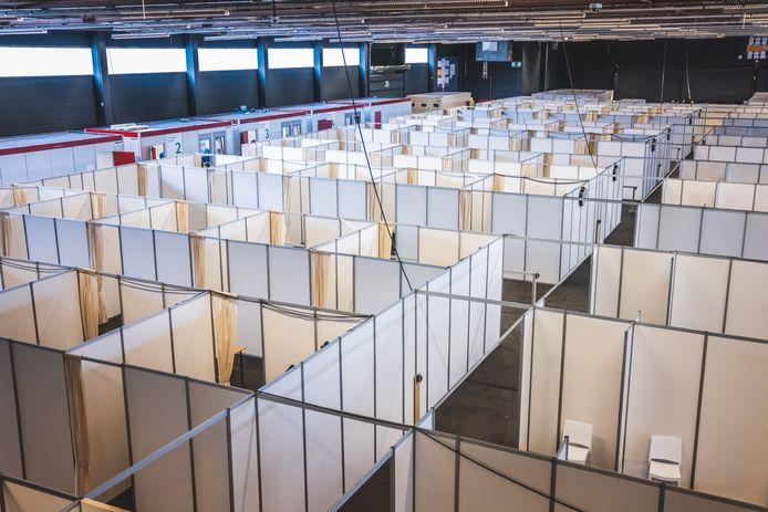 Het vaccinatiecentrum in Flanders Expo
