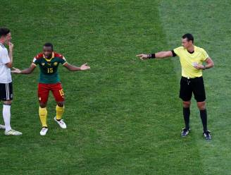 Rood en dan weer geen rood: Siani (KV Oostende) samen met videoref spilfiguur in vreemde fase tegen Duitsland