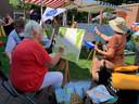 Schildervereniging Broma's palet schildert aan de Winterdijk natuurlijke taferelen