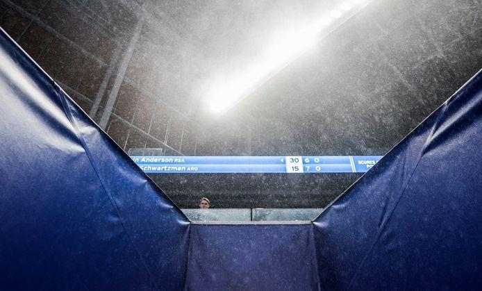 Noodweer bij de US Open.