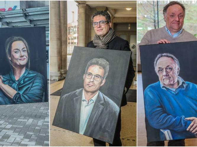 """HLN-lezer en kunstschilder Noël Verfaillie verrast virologen met portretschilderijen: """"We zien er beter uit op doek dan in het echt"""""""