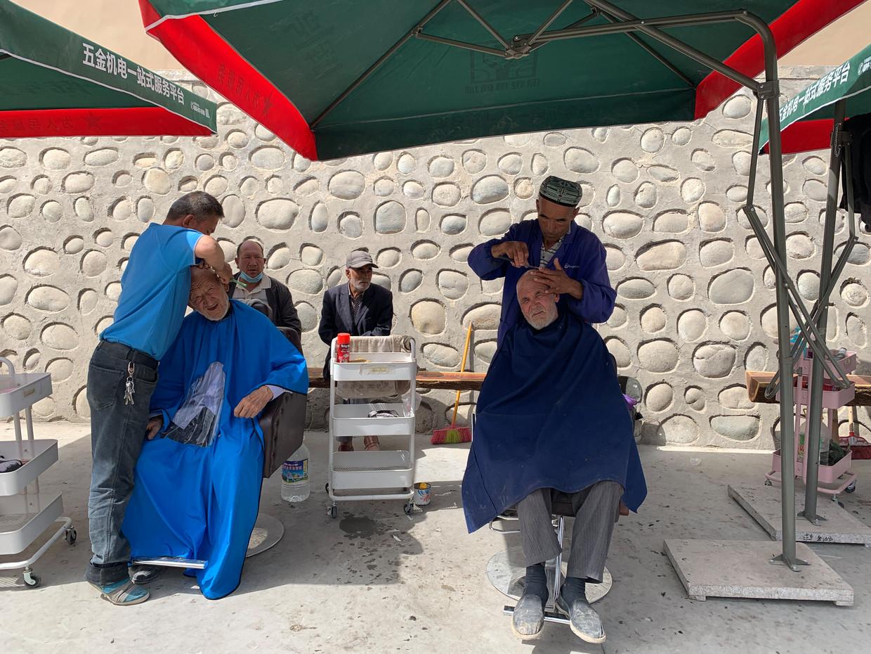 Straatbeeld in Yarkant.