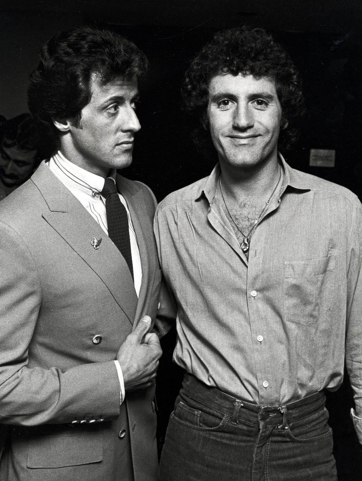Sylvester Stallone en Frank Stallone Beeld Ron Galella Collection via Getty