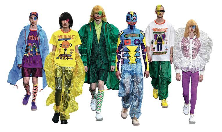 De huidige zomercollectie WitblitZ is een soort vintage garderobe voor aliens, O-Arm, Skattebol of Zesoog bijvoorbeeld.Maar ze passen ook op mensen. Beeld RV