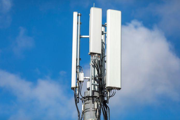 Een zendmast voor 4G en 5G.