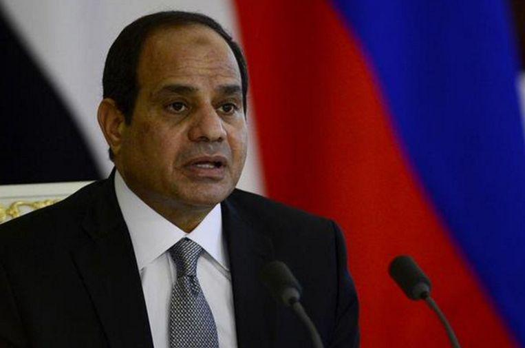 Egyptische president Abdel Fatah al-Sisi. Beeld rv