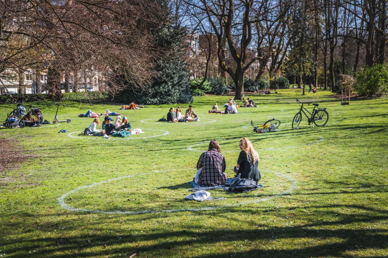 'Bubbels' in het Zuidpark in Gent. Beeld Wannes Nimmegeers