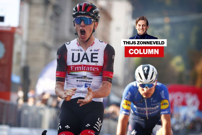 Tadej Pogacar wint de Ronde van Lombardije.