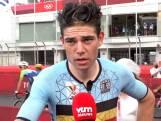 """Wout van Aert is trots: """"Een medaille was het hoogst haalbare, Carapaz was de sterkste"""""""