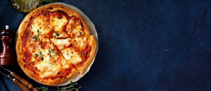 Pizza. Foto ter illustratie.