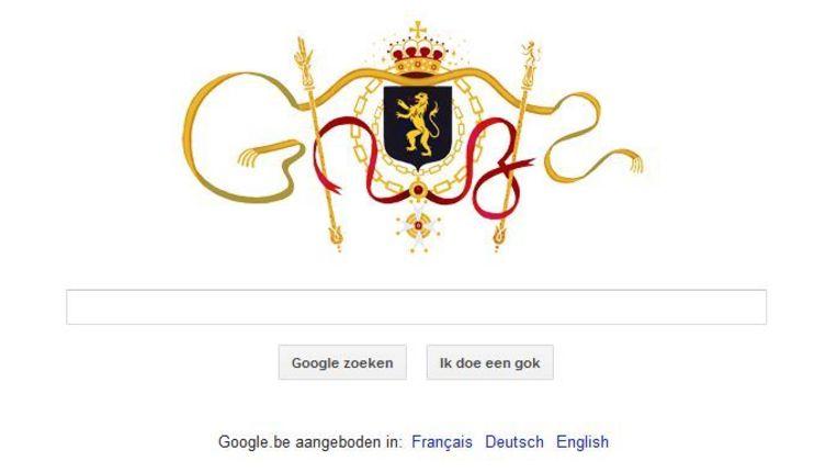Het Belgisch tintje van Google naar aanleiding van 21 juli. Beeld Google