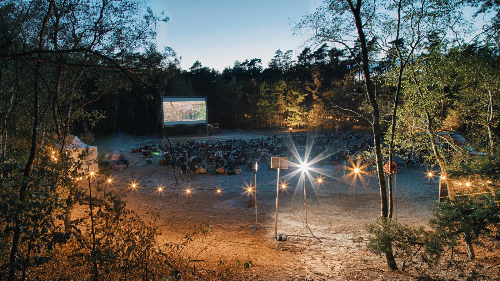 Vorig jaar waren er twee vertoningen in het bos van de natuurfilm 'Wild'.