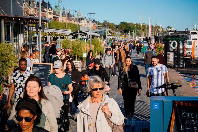 Voetgangers in Stockholm, voorbije zaterdag.