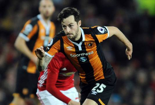 Ryan Mason in actie namens Hull City in 2017.