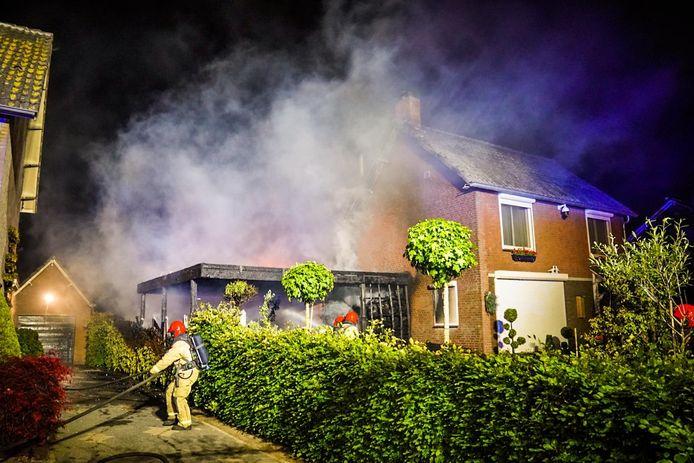 Woningbrand zorgt voor schade in Mariahout.