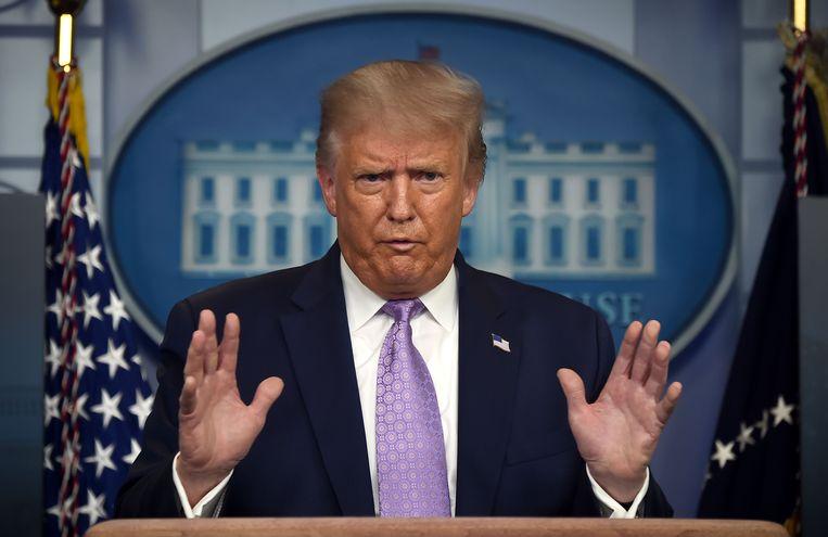 Amierkaans president Donald Trump. Beeld AFP