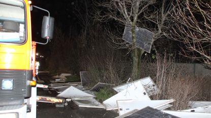 Stevige nawee van storm Ciara: rukwinden blazen 220 zonnepanelen van bedrijfsgebouw