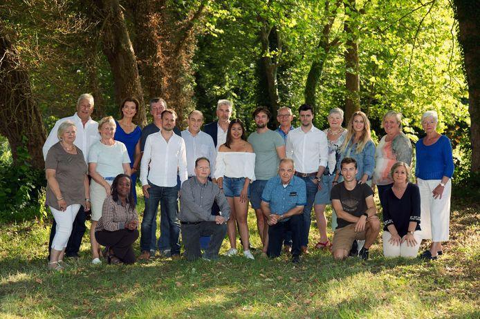 Open Vld Huldenberg en hun 21 kandidaten met hun beleidsprogramma.