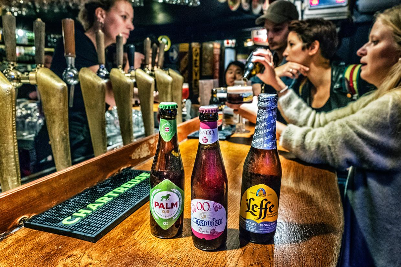 Alcoholvrij bier assortiment van biercafé Delirium Beeld Tim Dirven