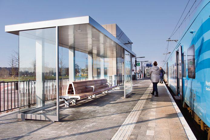 De stations krijgen nieuw meubilair, zoals halfopen abri's.