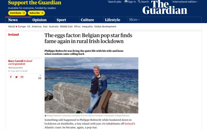 Het artikel over Philippe Robrecht in 'The Guardian'
