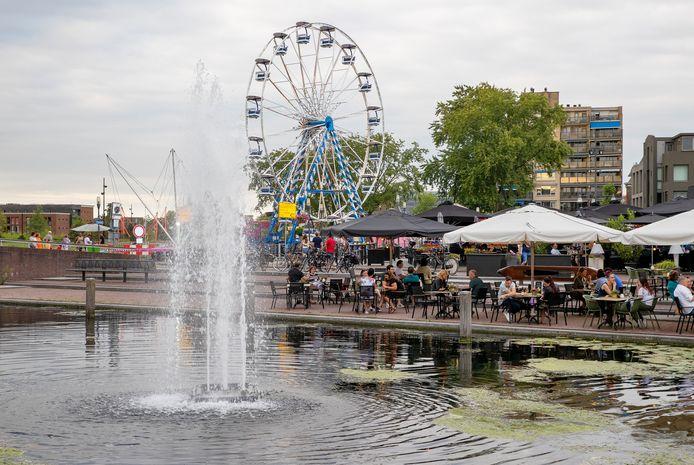 Afgelopen zomer werd er een reuzenrad geplaatst in het centrum van Helmond