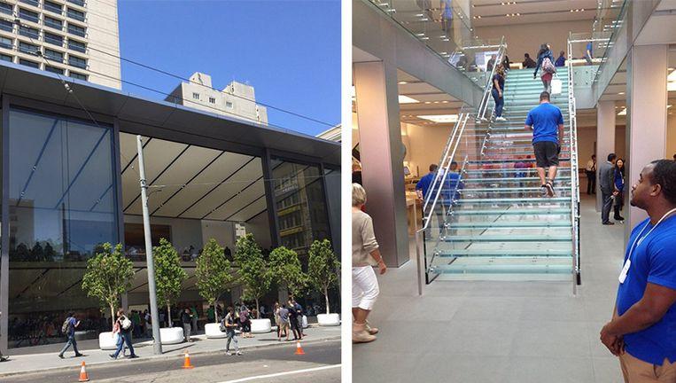 Trap in nieuwe apple store kost 1 miljoen dollar apple for Hoeveel kost een nieuwe trap