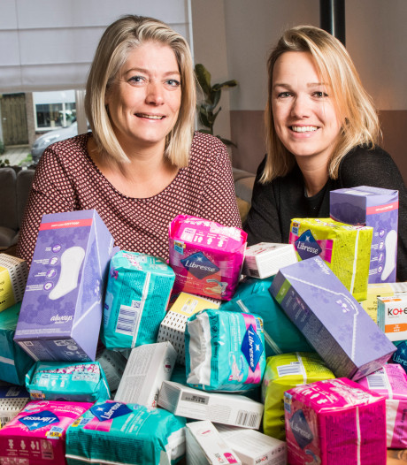 Almelose docenten in actie tegen menstruatie-armoede