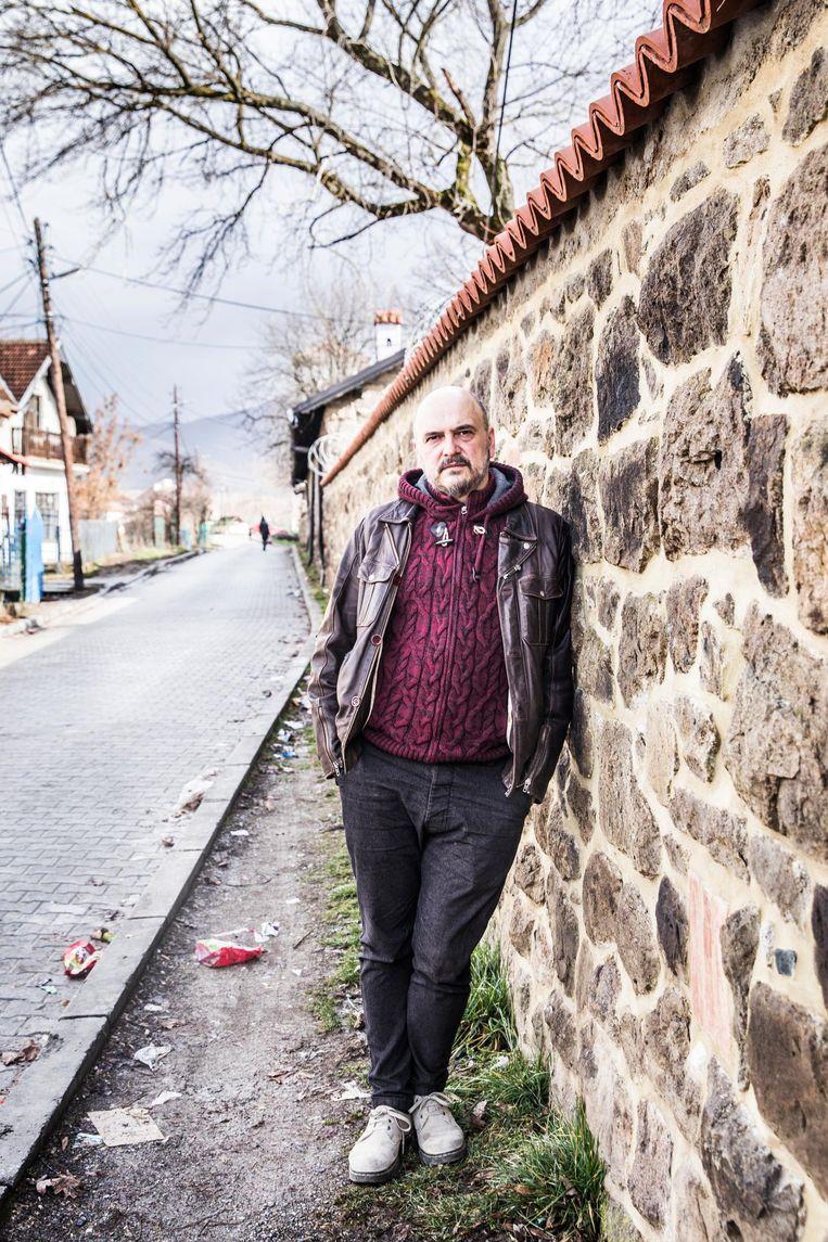 Isak Vorgucic Isak, directeur van het Servische radio- en televisiestation KIM. Beeld Aurélie Geurts
