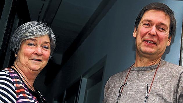 Marianne Nieuwenhuis en Martin van Iperen verkeren nog in onzekerheid of ze ook hebben gewonnen.