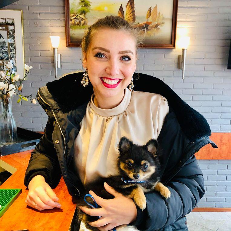 Rebecca Hemrica met Joepie. Beeld