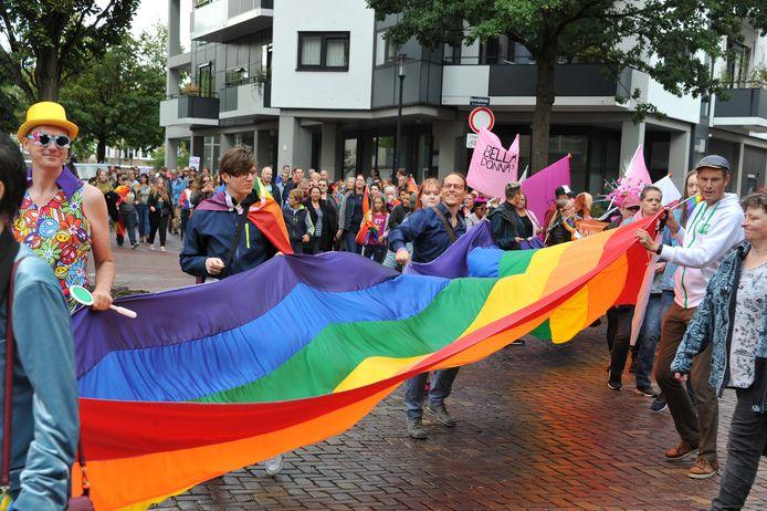 Archiefbeeld van Dordrecht Pride een paar jaar terug.