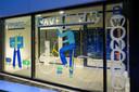 Op de ramen van De Factorij werden ook tekeningen aangebracht.