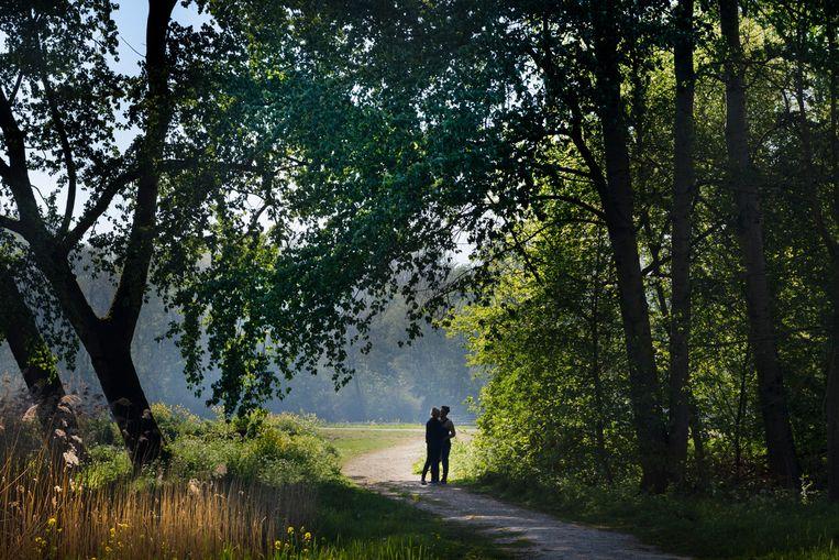 Foto gemaakt tijdens de tocht 'Buiten de binnenstad van Amsterdam', die onder meer door het Amsterdamse Bos voert. Beeld Pauline Marie Niks